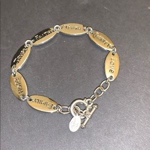 Premier Designs virtues silver bracelet